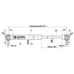Písty CKT 05 -250N pro hardtop mitsubishi MZ313658S3