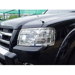 Nerezové kryty předních světel Mitsubishi L200.MK.4 old